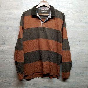 Johnston & Murphy Shirts - Johnston & Murphy Striped Polo Long Sleeve Shirt